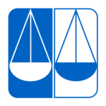 Lawyers' Committee for Civil Rights Under Law logo with two scales in blue contrast