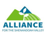 Alliance for the Shenandoah Valley logo showing an outline of a tree in front of geometric hills